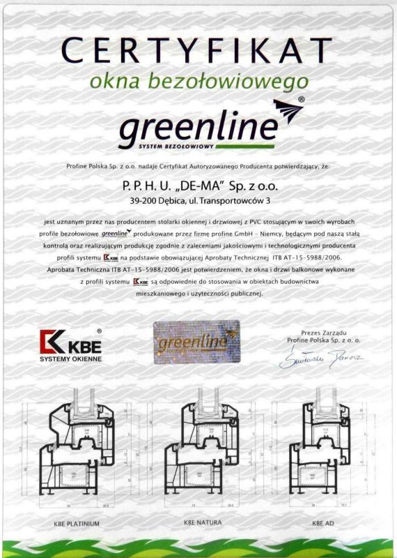 Certyfikat Greenline